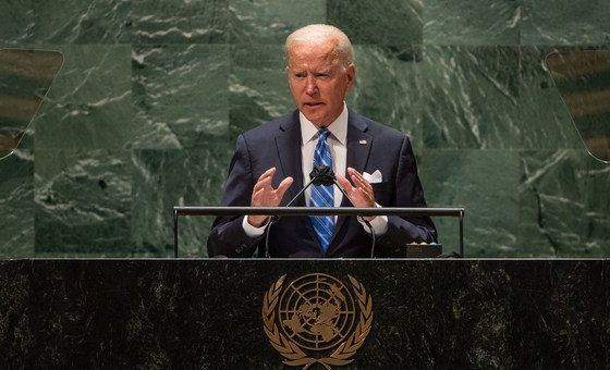 Presidente dos Estados Unidos, Joe Biden, fez seu primeiro discurso na Assembleia Geral das Nações Unidas
