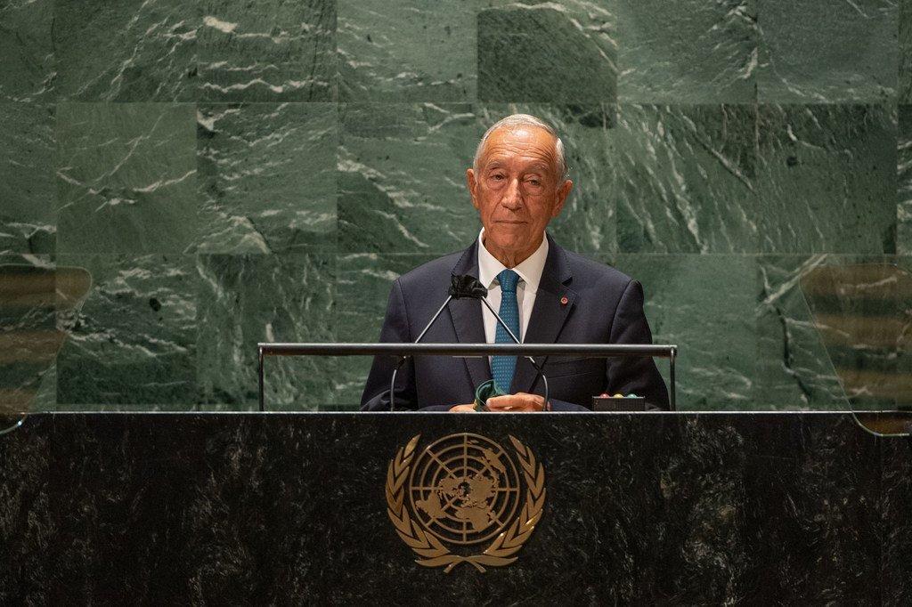 Presidente de Portugal, Marcelo Rebelo de Sousa, na 76a Assembleia Geral da ONU