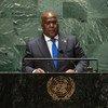 Le Président de la République démocratique du Congo, Félix-Antoine Tshisekedi Tshilombo, lors du débat général de l'Assemblée générale des Nations Unies.