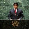 Carlos Alvarado Quesada, presidente de Costa Rica, en la Asamblea General de la ONU.