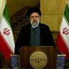 President Seyyed Ebrahim Raisi of Iran addresses the general debate of the UN General Assembly's 76th session...