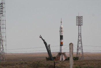 Ракета на космодроме Байконур