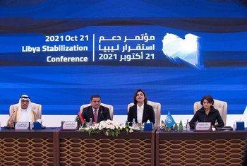 وكيلة الأمين العام للأمم المتحدة للشؤون السياسية وبناء السلام، السيدة روزماري ديكارلو، خلال