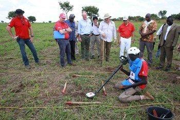 UNMAS wakitegua mabomu katika eneo la Equatoria mashariki nchini Sudan Kusini