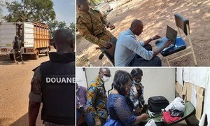 In Burkina Faso, frontline officers carried out checks at suspected smuggling hotspots.