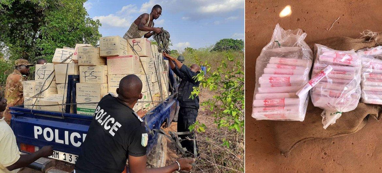 Com ajuda do Unodc, policiais interceptaram armas de fogo, munições e explosivos ilícitos, interrompendo as redes de tráfico em países da África
