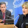 David Kaye (left) and Agnes Callamard are among the experts who issued the statement. Respectively, they are the Special Rapporteur on the Promotion and Protection of the Right to Freedom of Opinion and Expression, and the Special Rapporteur on extrajudicial, summary or arbitrary executions (file photo)..