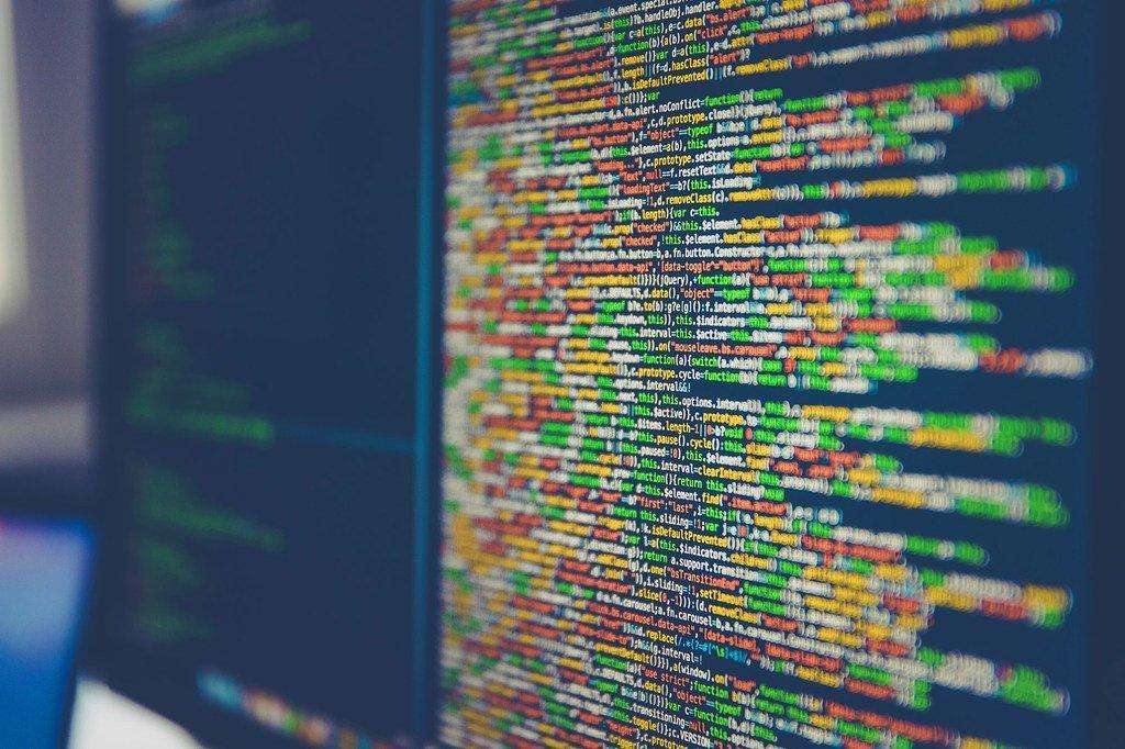 Code affiché sur un écran d'ordinateur.