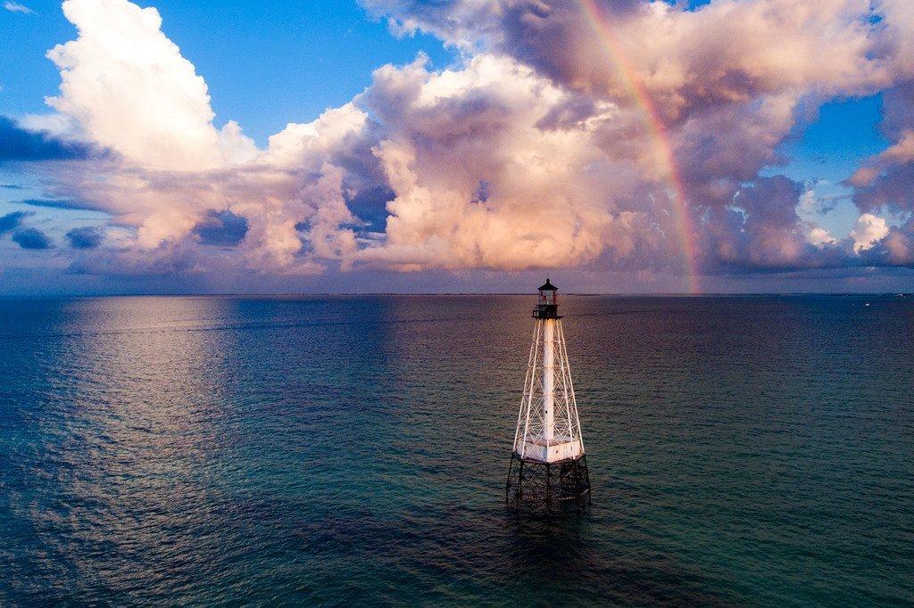 Faro en la costa de Florida, Estados Unidos
