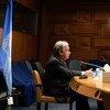 Le Secrétaire général de l'ONU, António Guterres, s'exprime lors du Sommet virtuel des dirigeants sur le climat organisé par les Etats-Unis.