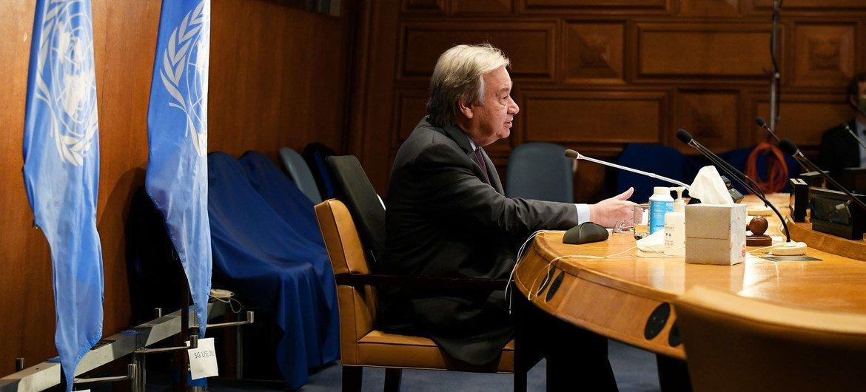 Guterres disse que a comemoração em 2021, como no ano passado, acontece em meio a desafios