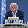 المنسق الخاص للأمم المتحدة لعملية السلام في الشرق الأوسط، تور وينسلاند، يطلع مجلس الأمن على الوضع في الشرق الأوسط، بما في ذلك القضية الفلسطينية، عبر تقنية الفيديو.