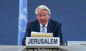 联合国中东和平进程特别协调员托尔·文内斯兰通过视频向安理会通报了中东局势,包括巴勒斯坦问题。
