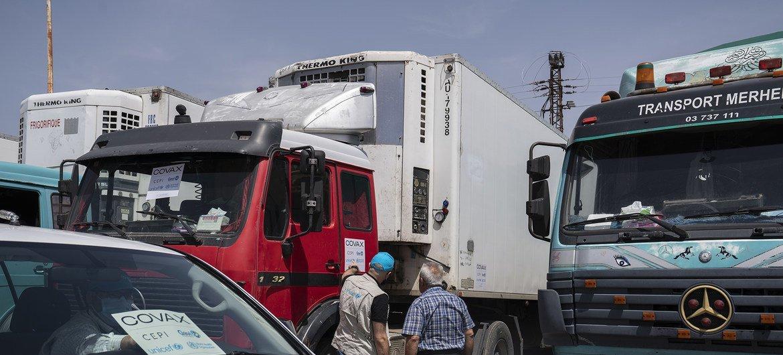 سوريا تتسلم أول دفعة من لقاحات كوفيد-19 (256,800 جرعة) عبر مرفق كوفاكس.