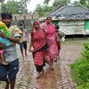 Cyclone Amphan hits West Bengal, India.