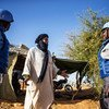 United Nations Police Officers from Chad serving with MINUSMA engage with and reassure the local population while on patrol in the region of Menaka, which experienced increasing insecurity as a result of attacks by terrorist and other armed groups. .