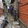 孟加拉国考克斯巴扎尔的难民营已经迎来危险的风暴季节。
