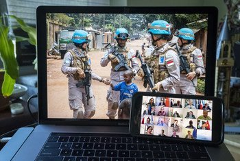 UN Security Council members hold a virtual meeting about the peacekeeping operation in the Central African Republic, (MINUSCA).