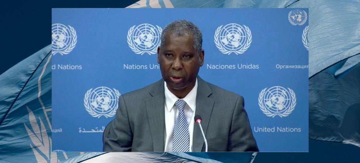 联合国大会第七十四届会议主席班迪举行在线新闻发布会。