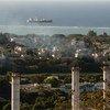 محطة طاقة حرارية في بورت لويس بموريشيوس تساهم في انبعاثات الغازات الدفيئة في الجزيرة الواقعة في المحيط الهندي.