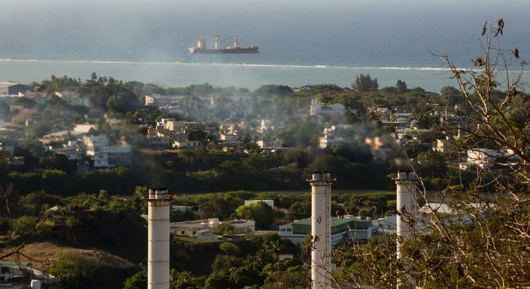 A thermal power plant in Port Louis, Mauritius is contributing to greenhouse gas emissions on the Indian Ocean island.