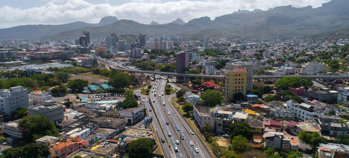 La ville de Port-Louis à l'Île Maurice
