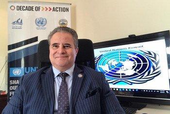 الدكتور طارق عزمي، المنسق المقيم للأمم المتحدة في الكويت.