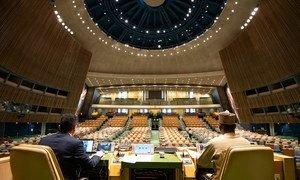 联合国大会第七十四届主席主持其继任者的选举。