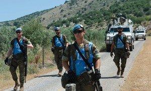 El contigente español de UNIFIL patrulla la frontera entre Israel y el Líbano.