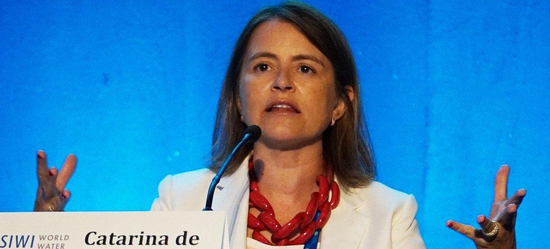 Diretora-executiva da iniciativa Saneamento para Todos, do Fundo das Nações Unidas para a Infância, Unicef, Catarina de Albuquerque