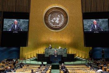 El Secretario General presenta su informe anual a la Asamblea General