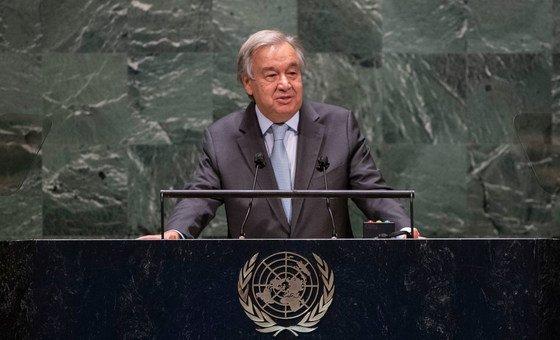 Secretário-geral, António Guterres, desempenha as funções desde 1 de Janeiro de 2017