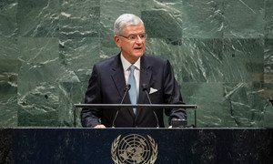 Volkan Bozkir, President of the 75th session of the United Nations General Assembly, opens the general debate of the General Assembly's seventy-fifth session.