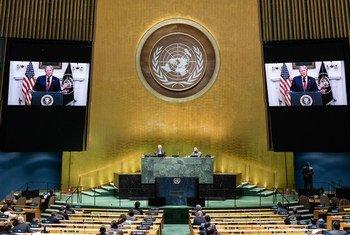 Donald Trump, el presidente de Estados Unidos, se dirige a la Asamblea General