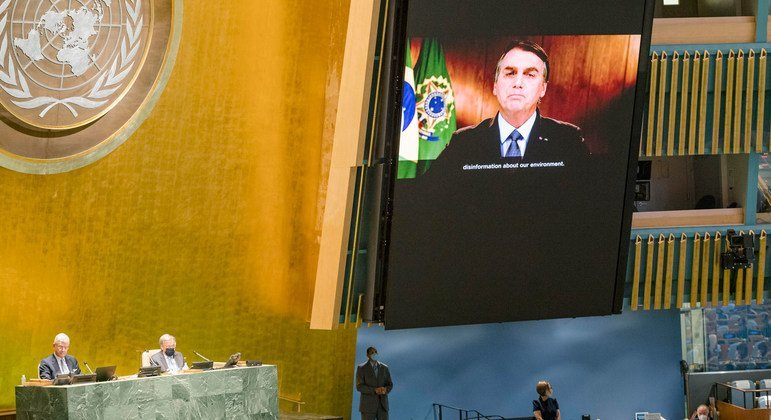 В зале Генассамблеи ООН транслируют обращение Президента Бразилии Жаира Больсонару