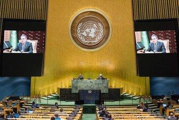Президент Туркменистана Гурбангулы Бердымухамедов, 75-я сессия Генеральной Ассамблеи ООН