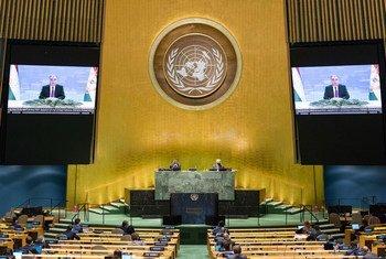 Президент Таджикистана Эмомали Рахмон выступил на 75-й сессии Генеральной Ассамблеи ООН.