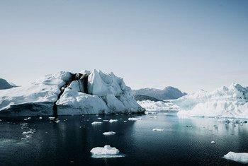 Icebergs na Groenlândia, onde o derretimento das camadas de gelo está se acelerando.