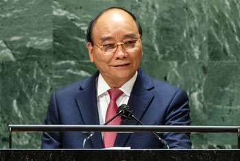 President Nguyen Xuan Phuc of Viet Nam addresses the general debate of the UN General Assembly's 76th session.