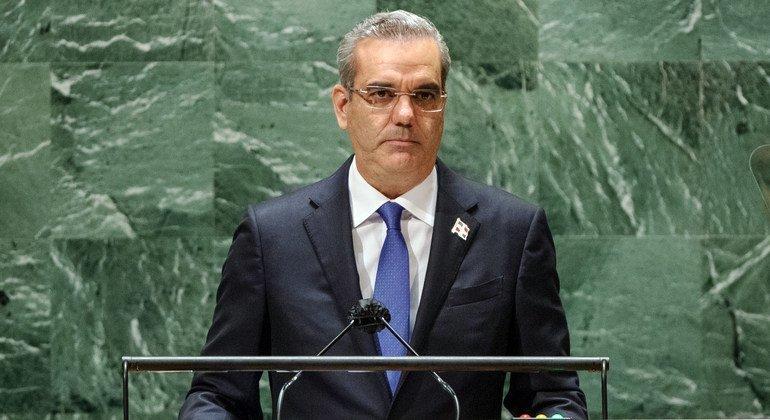 El presidente Luis Abidaner Corona, de la República Dominicana, habla en el debate de la Asamblea General.