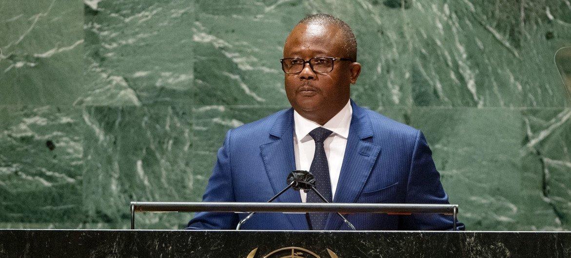 Presidente da Guiné-Bissau, Úmaro Sissoco Embaló, na 76a Assembleia Geral