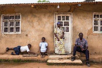Une famille affectée par Ebola à Butembo, en République démocratique du Congo.