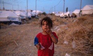 Una niña de cuatro años deambula en el campamento de Bardarash, en Iraq. La menor es uno de los miles de refugiados sirios que han huido de los combates en el noreste de su país.