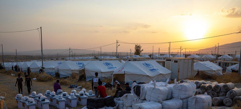 El campamento de Bardarash en Iraq, donde continúan llegando desplazados sirios.