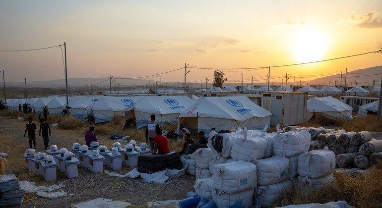 УВКБ оказывает помощь сирийским беженцам в Ираке.