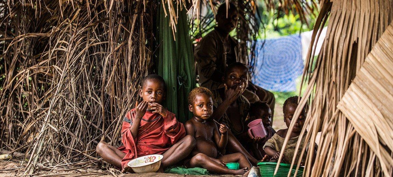 刚果民主共和国的儿童。