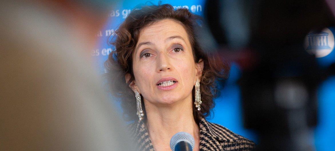 Chefe da Unesco, AudreyAzoulay, destacou importância da iniciativa