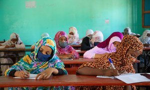 Mauritanian students return to school after several months of school closures due to COVID-19.
