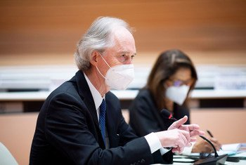Geir O. Pedersen, UN Special Envoy for Syria meets with the co-Chairs of the Syrian Constitutional Committee in Geneva.