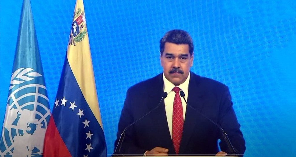 President Nicolás Maduro Moros of Venezuela addresses the general debate of the UN General Assembly's 76th session.